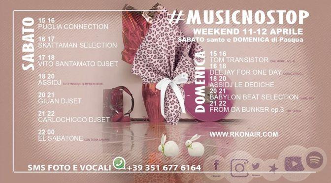 #musicnostop, il lungo weekend con rko