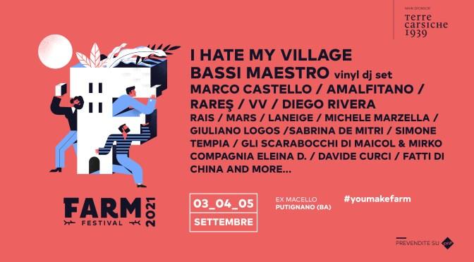 FARM Festival 2021, 9° edizione 3 – 4 – 5 settembre all'Ex Macello di Putignano