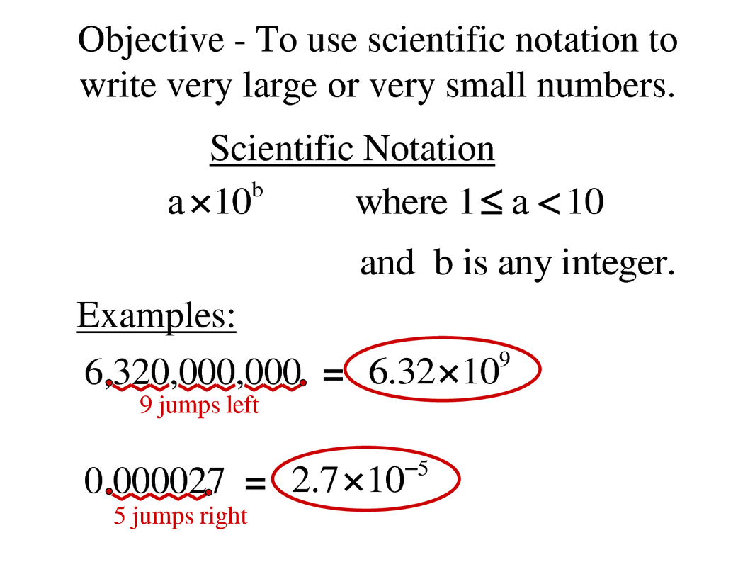 4 2 And 4 3 Scientific Notation And Standard Form