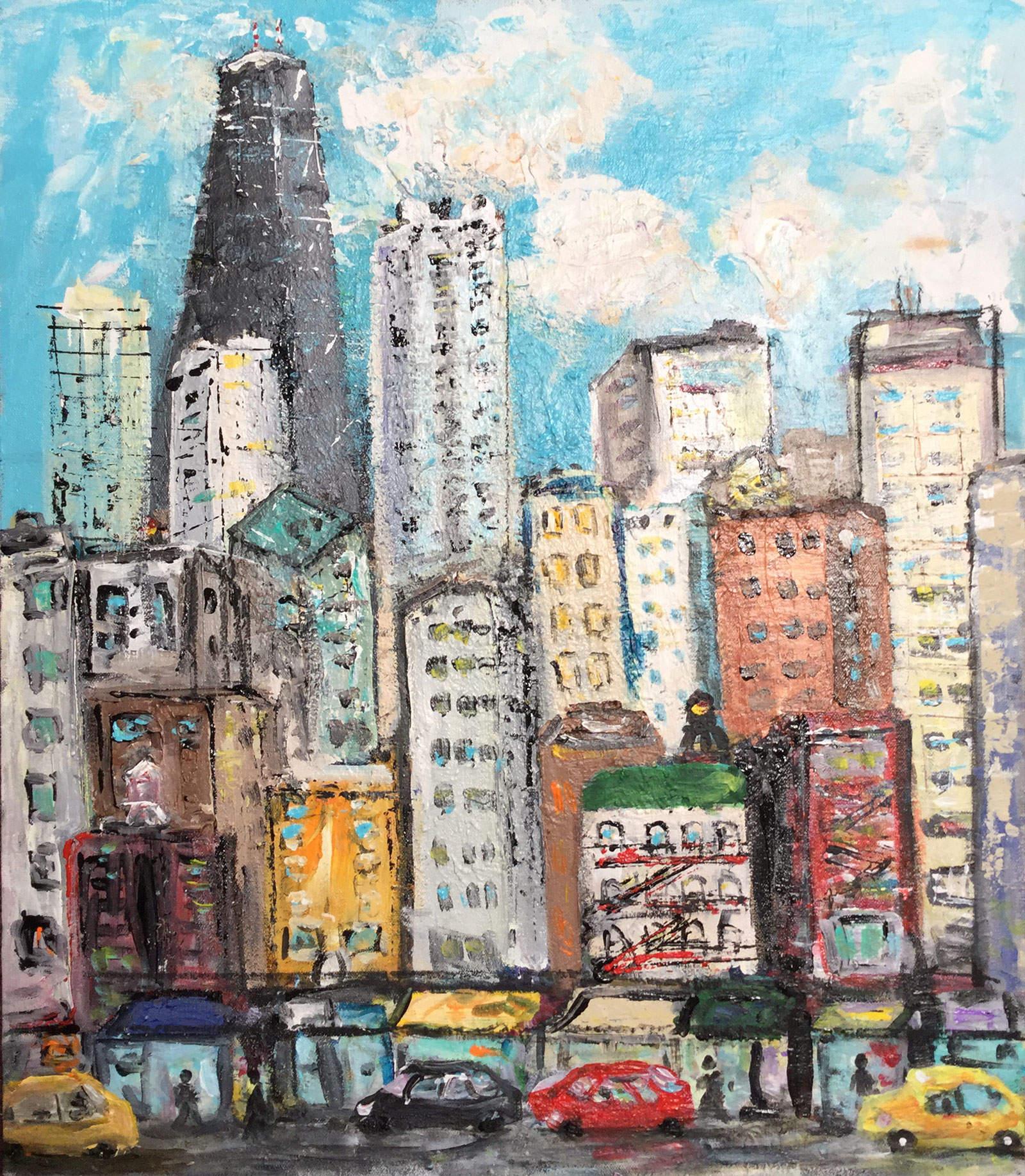 City Scene 20x24