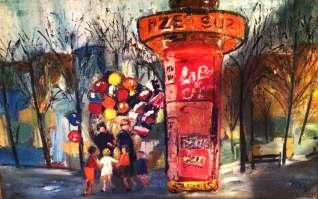 Kiosk in Paris