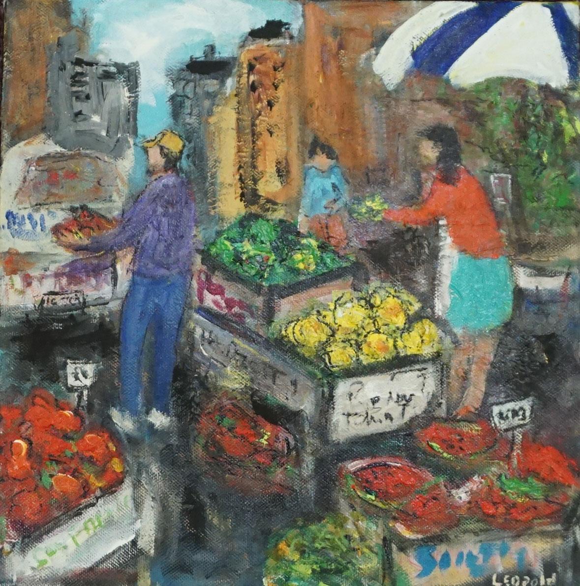 Market Scene 2---Turquoise Skirt