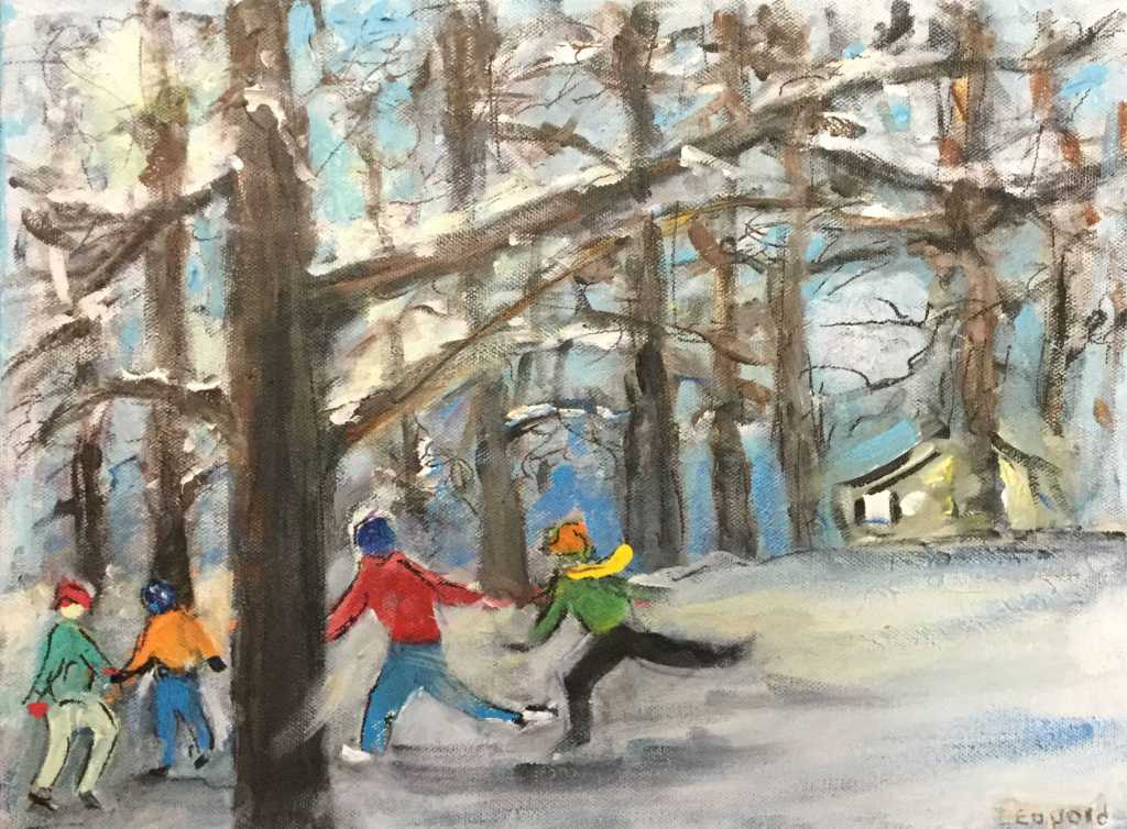 Skaters in the Woods