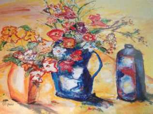 Flowers with Jug