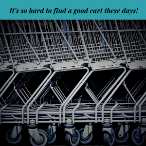 shopping carts, buggies, groceries