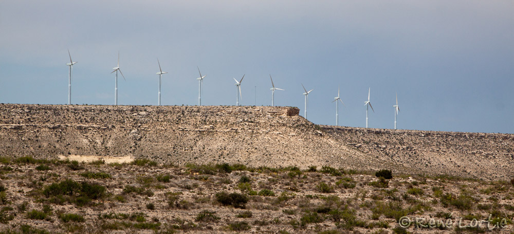 Éoliennes le long de l'Interstate 10