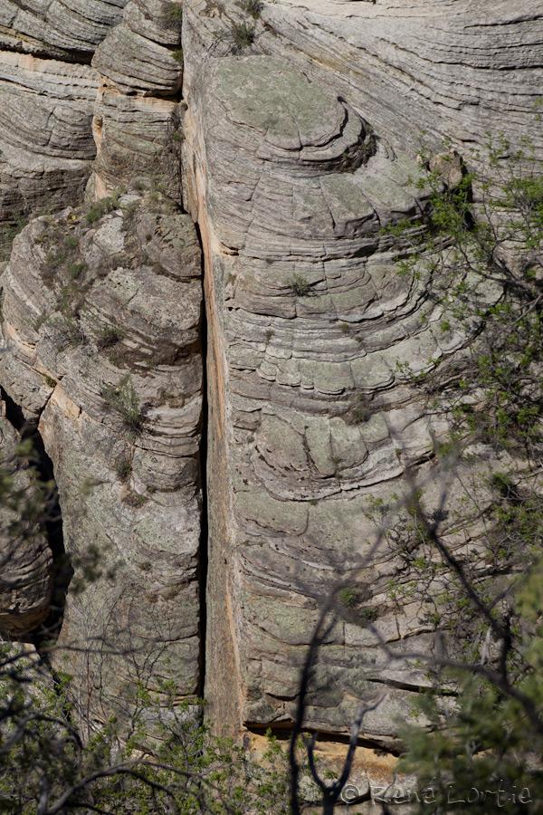 Rock patterns. Walnut Canyon