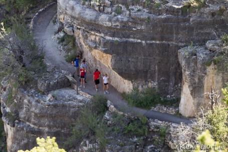 Les sentiers permettant de découvrir les habitations de Walnut Canyon