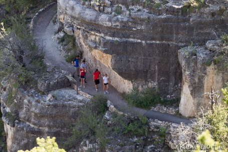 The trails leading to the dwellings of Walnut Canyon
