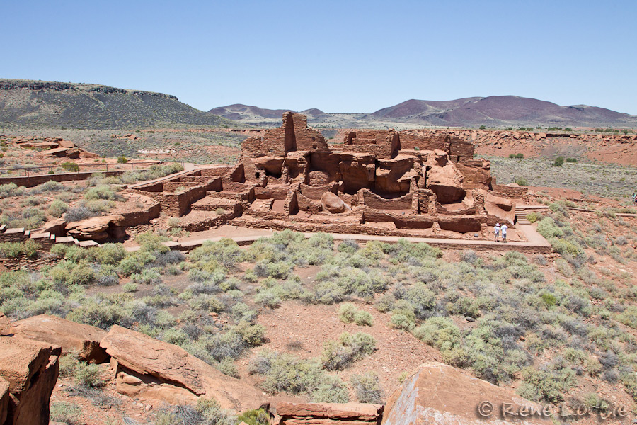 The most imposing building was in Wupatki and had several rooms