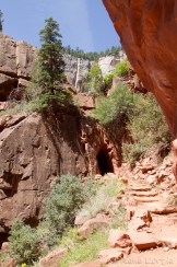 Le tunnel du sentier North Kaibab
