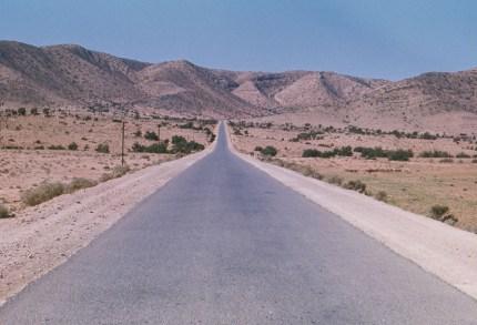 La route entre Agadir et Goulimine