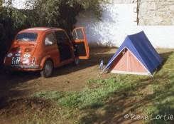 Notre campement chez les Brunelle à Kénitra