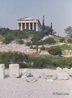 Hephaisteion Temple dorique périptère, situé au nord-ouest de l'agora d'Athènes, en haut de la colline appelée Colonos Agoraios. Héphaïstos était le dieu de la métallurgie.