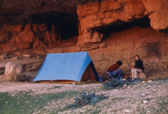 Notre campement dans la grotte