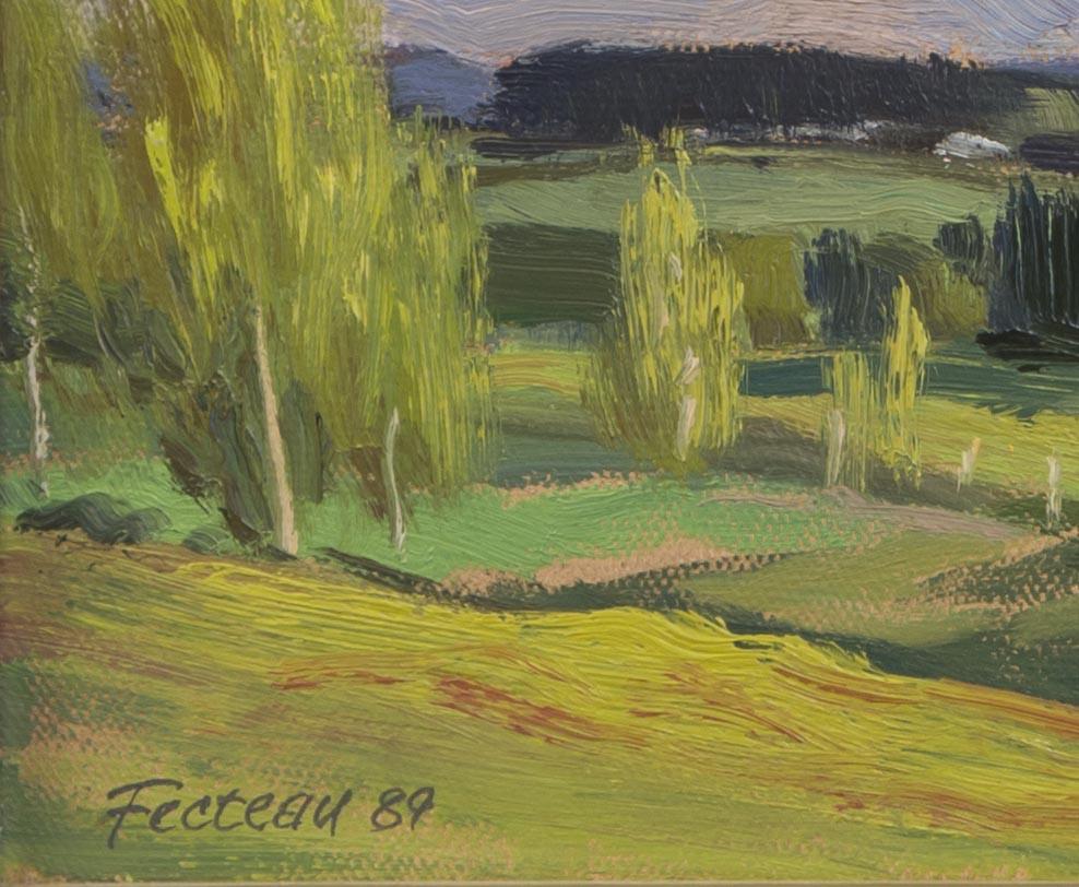 Chesterville, face à la maison de l'artiste 1989 (signature)