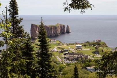 Le rocher Percé vu du Mont Sainte-Anne