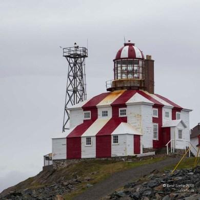 Le phare de Bonavista. L'ancien à l'avant-plan et l'actuel à l'arrière.