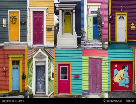 Échantillon de portes de centre-ville de St-John's