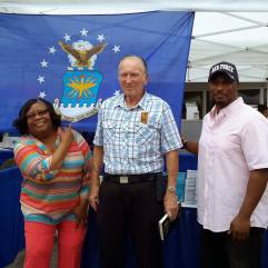Myself with two USAF retirees. A enthusiastic customer, and my ever-supportive Mother at SABF