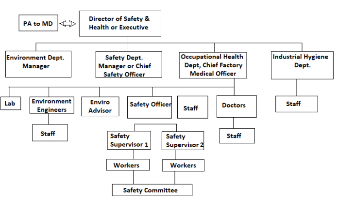 Line and staff function of safety