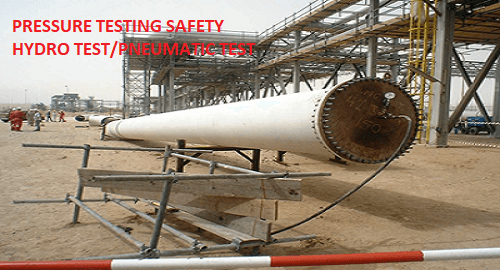 Pressure testing Hydro/pneumatic