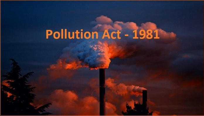 Pollution Act 1981 india