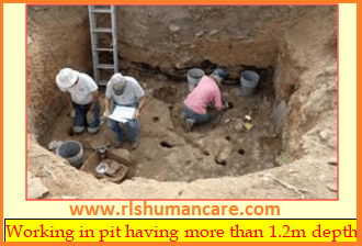 Excavation safety at site