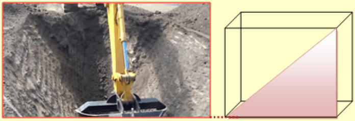 Provide safe angle in excavation