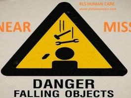 Near miss falling of object