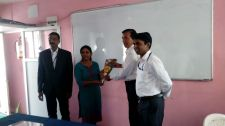 Visit of Dr. Madhavi Thakre ma'm (ISRO) at different departments of our college