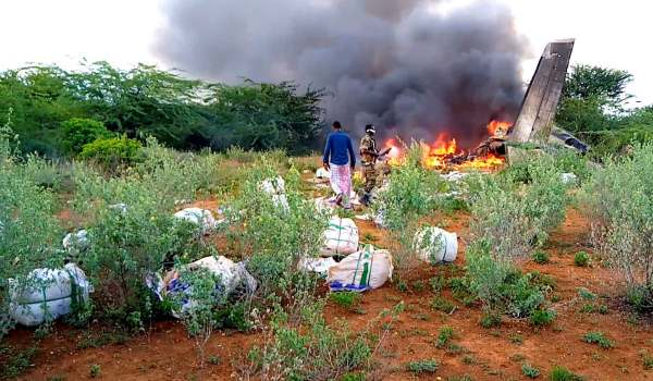 Kenyan cargo plane; unknowingly shot down deplorably on 4th.