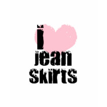 I [heart] Jean Skirts t-shirts