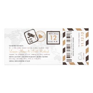 Boarding-Durchlauf-Luftpost-Karten-Einladung