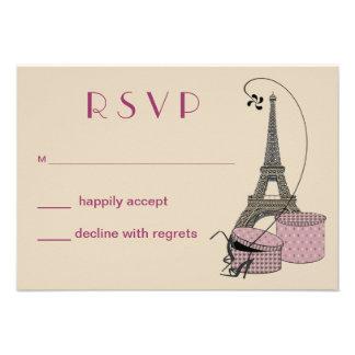 Ein Abend in der Paris-Party-Wartekarte Individuelle Einladungskarte