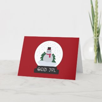 Christmas Card God Jul Feestdagen Kaart