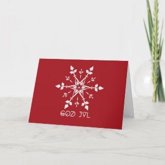 Christmas card with God Jul Feestdagen Kaart