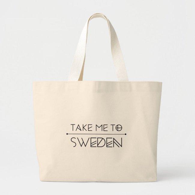 Grote tas opdruk Take me to Sweden