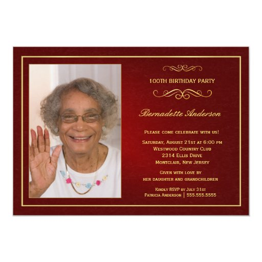 100th birthday invitations zazzle filmwisefo