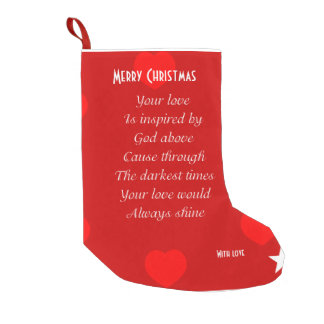 Poem Christmas Stockings Poem Xmas Stocking At Zazzleca