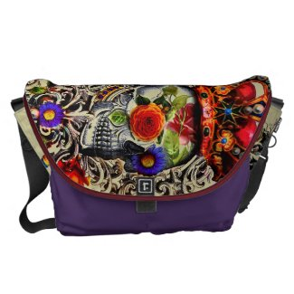 Crowned Floral Skull Commuter Bag