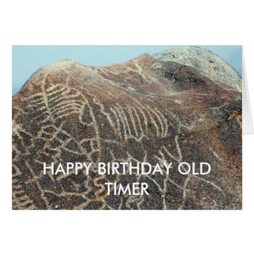 HAPPY BIRTHDAY OLD TIMER GREETING CARD Zazzle