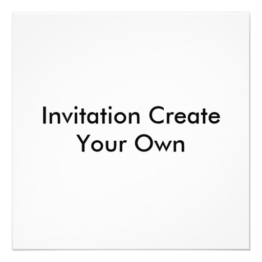 Design My Own Invitations
