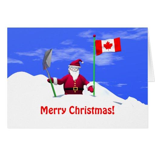 Merry Christmas Santa In Canada Zazzle