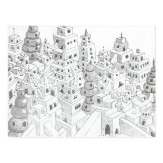 Pencil Drawn City
