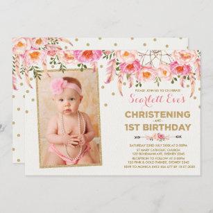 baptism 1st birthday invitations