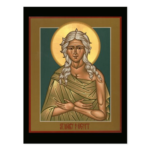 Saint Mary of Egypt Prayer Card Postcard | Zazzle