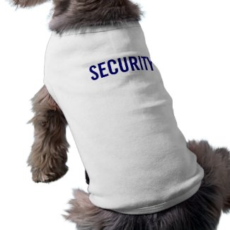 Security Uniform for Dogs petshirt