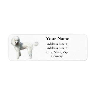 Standard Poodle Address Labels