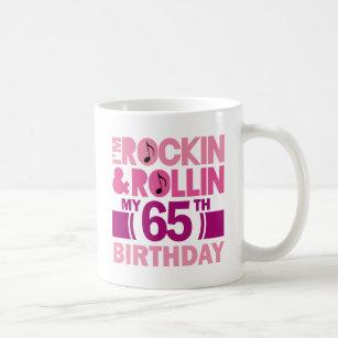 65 Geburtstag Frau Trinkgefäße Zazzlech
